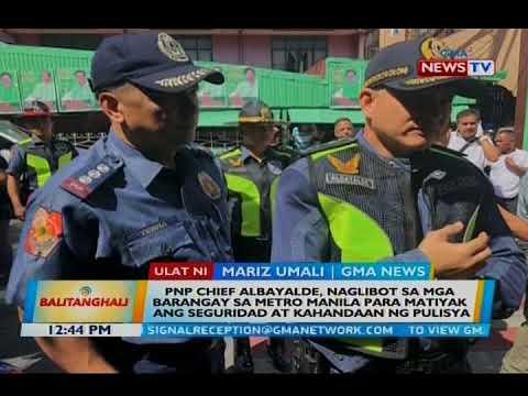 PNP chief Albayalde, naglibot sa mga barangay sa Metro Manila