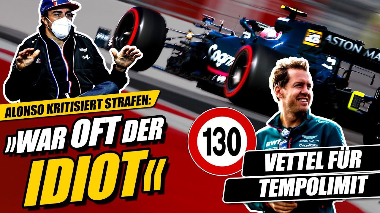 Download Vettel plädiert für Tempolimit, Alonso kritisiert Formel 1 Strafen!