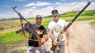 1v1 PAWN SHOP GUNS Shooting CHALLENGE!!!