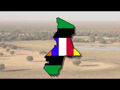 France Equatorial Africa flag map-speed art