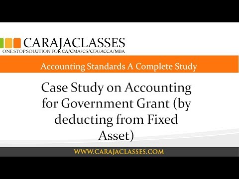 Case Study on Accounting for Government Grant (by deducting from Fixed Asset)
