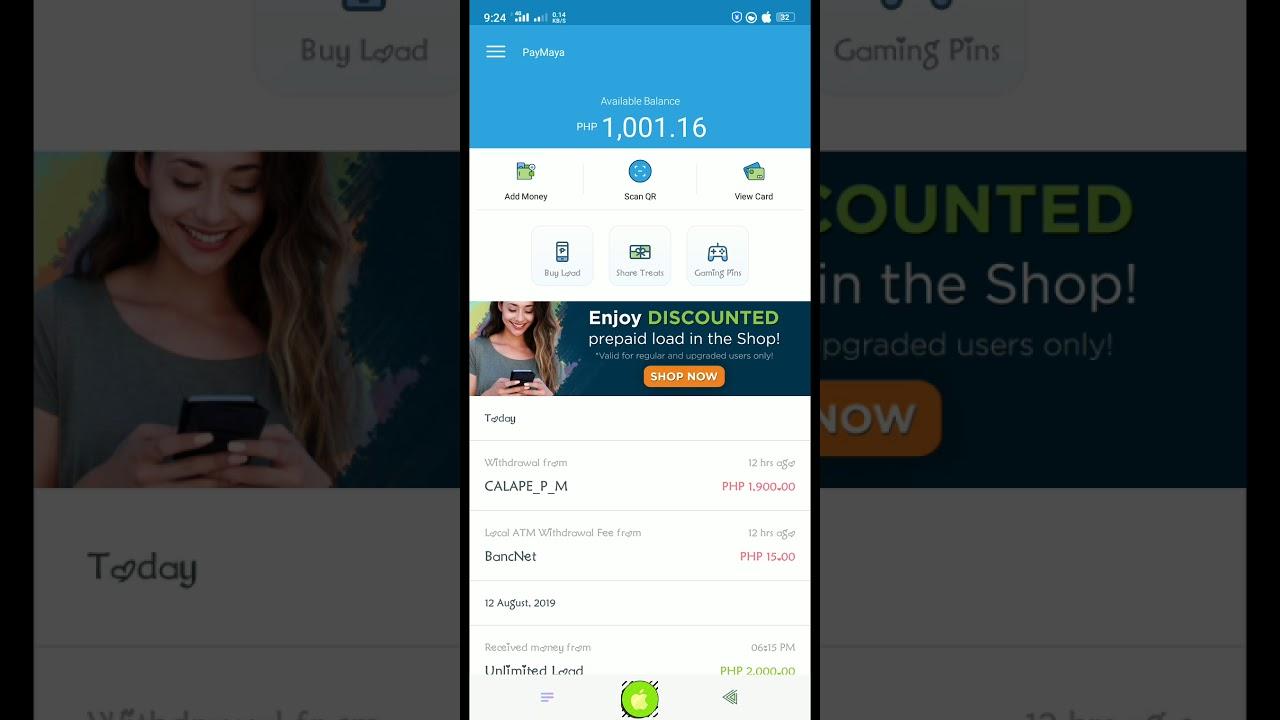 PayMaya Apps Hack Unlimited Load ₱1000 00