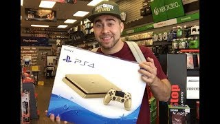 SURPRISING my Mom with her FIRST GOLD PS4! THANKS GAMESTOP! 🎮😍