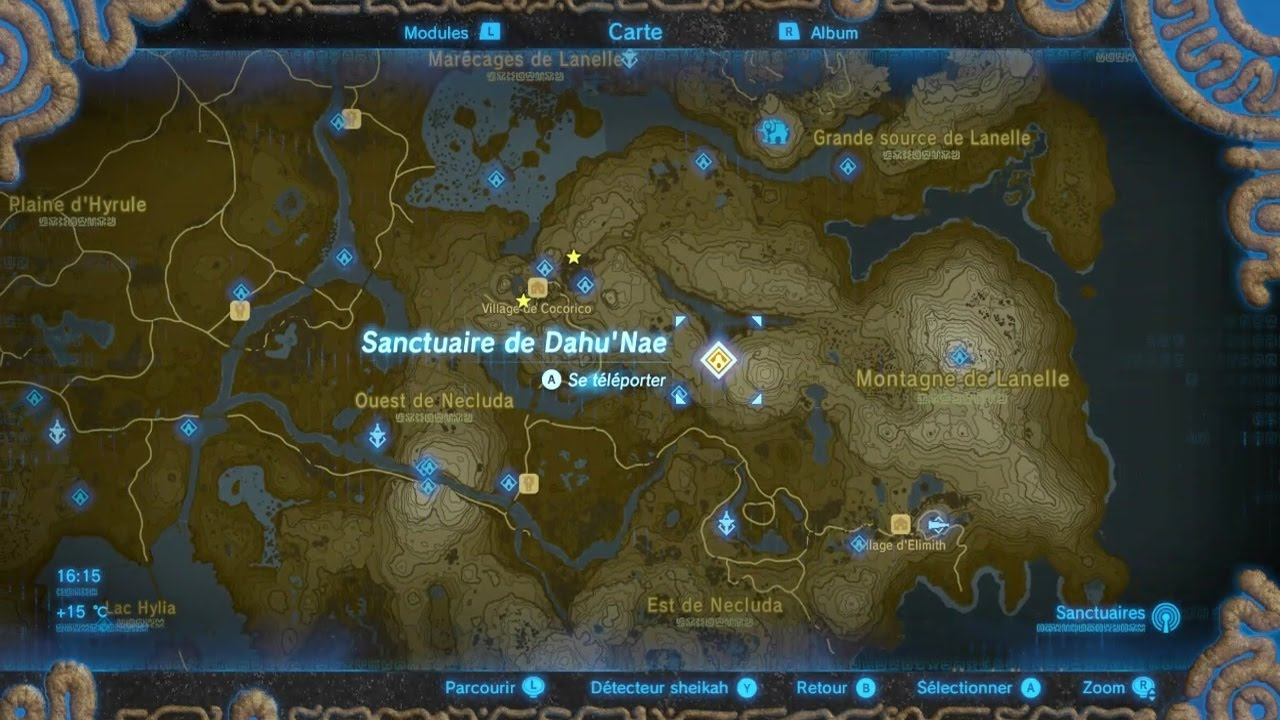 Zelda Breath Of The Wild Sanctuaire 60 Dahu Nae Youtube