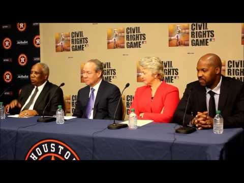 Frank Robinson promoted the Civil Rights Game at Houston