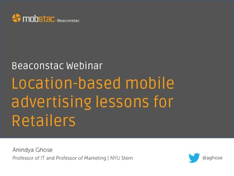 Webinar - Location based mobile advertising lessons for Retailers