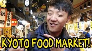 I'm in Kyoto Japan exploring the popular Nishiki Market for some delicious street food. ▻Subscribe for more videos about food! http://bit.ly/1hsxh41 ...