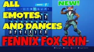 * NOVO * FENNIX FOX SKIN Showcase com novas danças Fortnite e novos EMOTES! (Fortnite 10 ª temporada Skin)