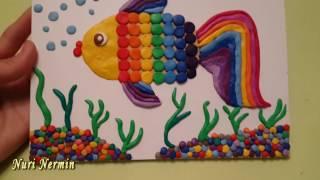 мозаика рыбка из пластилина