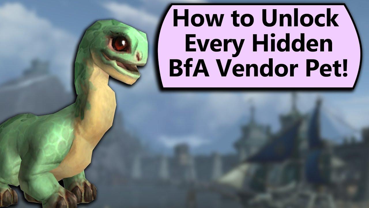 How to Unlock Every Hidden Pet on BfA's Pet Vendors!