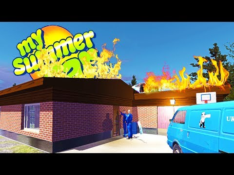 MY SUMMER HOUSE FIRE? Escaping House Arrest! - My Summer Car Gameplay Highlights Ep 71