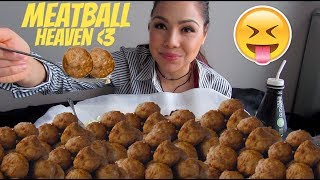 HOW TO: MAKE JUICY MEATBALLS 먹방 MUKBANG 신메뉴 Social Eating