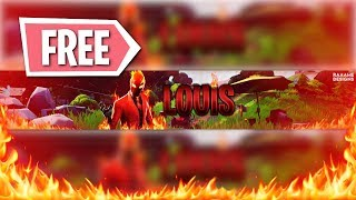 """FREE"" Fortnite FIRE Banner + Download 