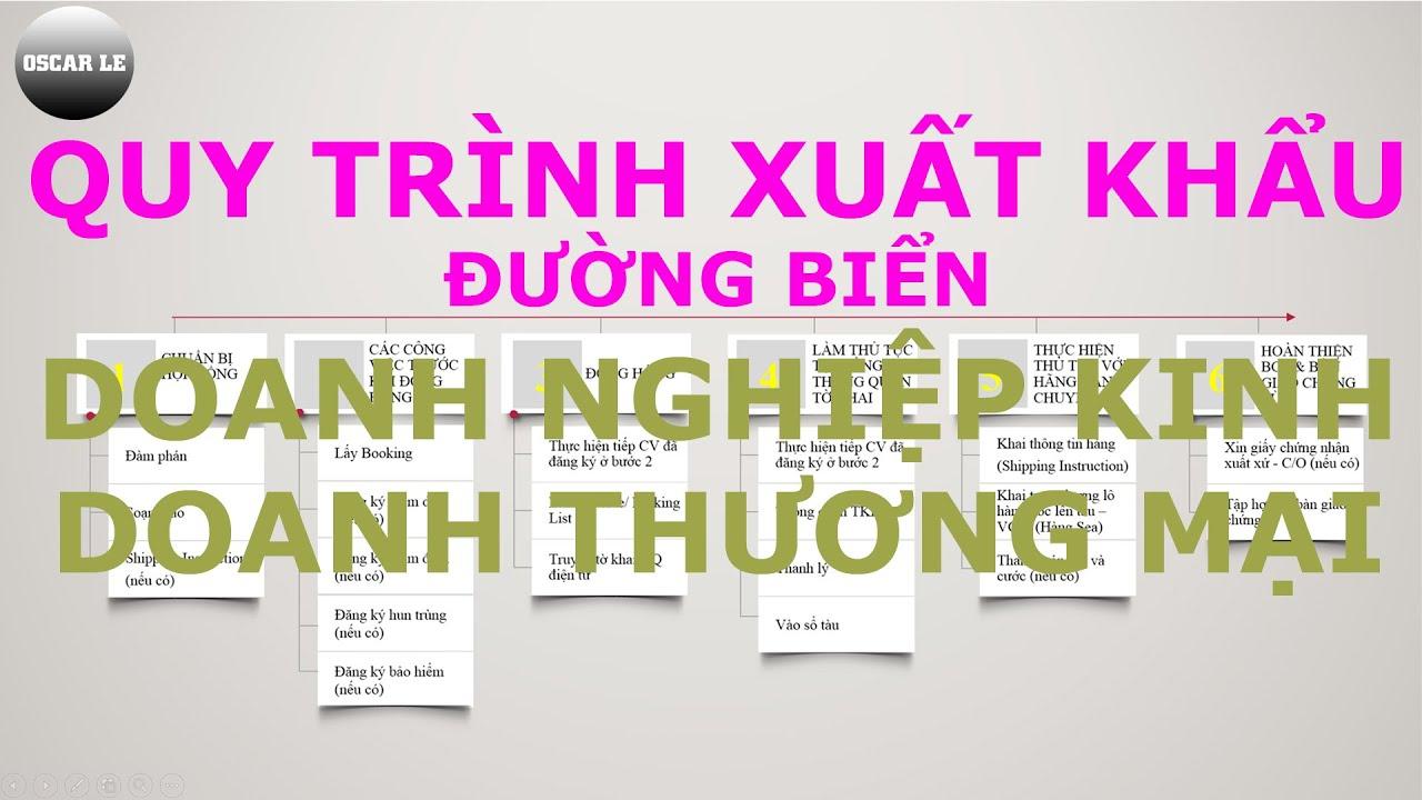 Bài 1: Quy Trình Xuất Khẩu Đường Biển Của Doanh Nghiệp Kinh Doanh Thương Mại | Webxuatnhapkhau.com