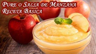 Pure o Salsa de Manzana Receta Basica Facil y Economica