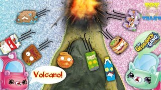 EXPLOSION! GROSSERY GANG VOLCANO ERUPTS ATTACKING CUTIE CARS! BLIND BAG OPENING AND TOY REVIEW!