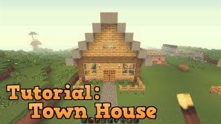 minecraft town beginners simple tutorial
