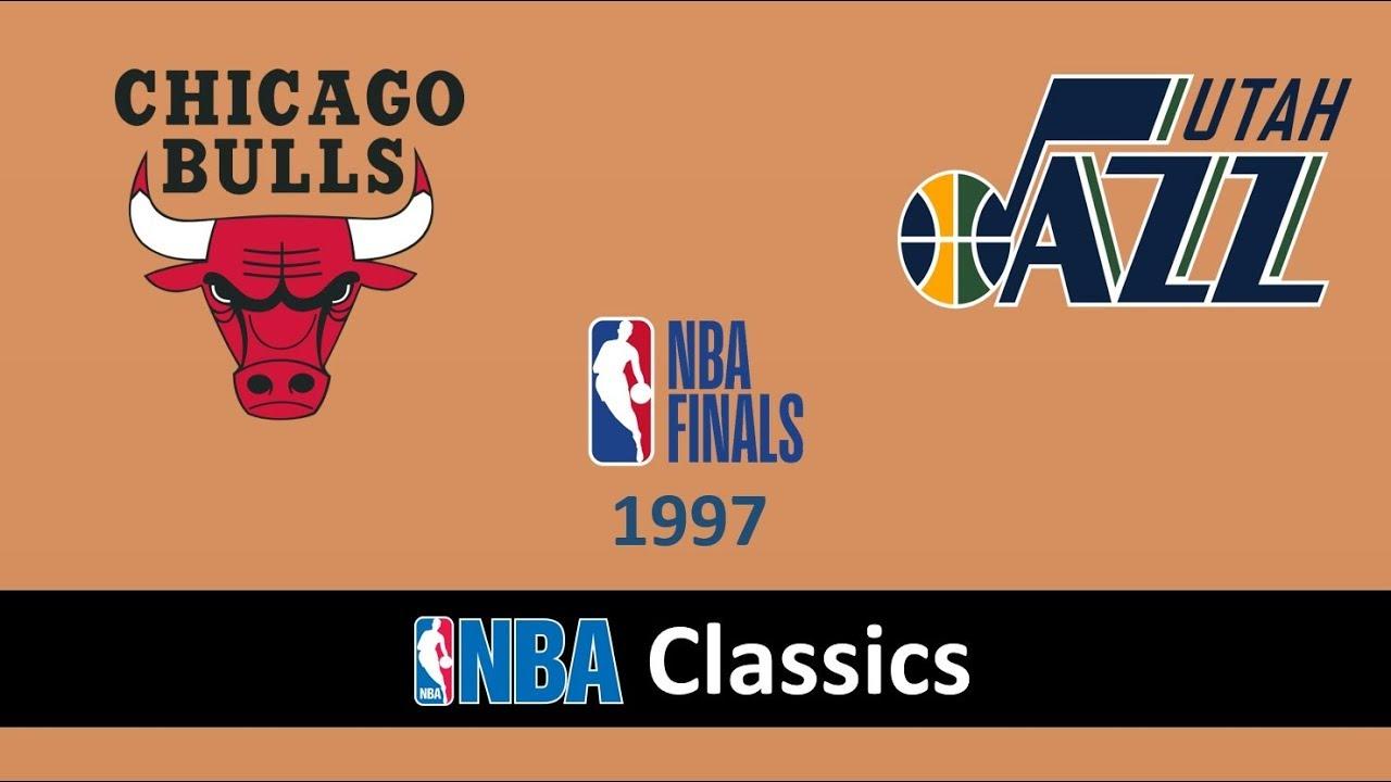 Nba Finals 1997 Chicago Bulls Vs Utah Jazz Game 6 Full Match Youtube