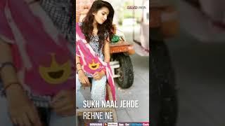 Teri much wala rob ve m  kaim rakhungi Me Dil vich rakhe stkar punjabi song  || Rajasthani status
