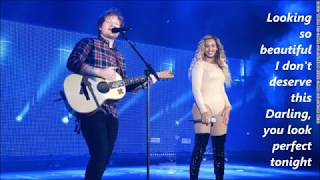 Ed Sheeran - Perfect Duet (with Beyonce) lyrics Video