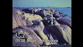 UR-klocka + hallåa Malin Falkman 1989