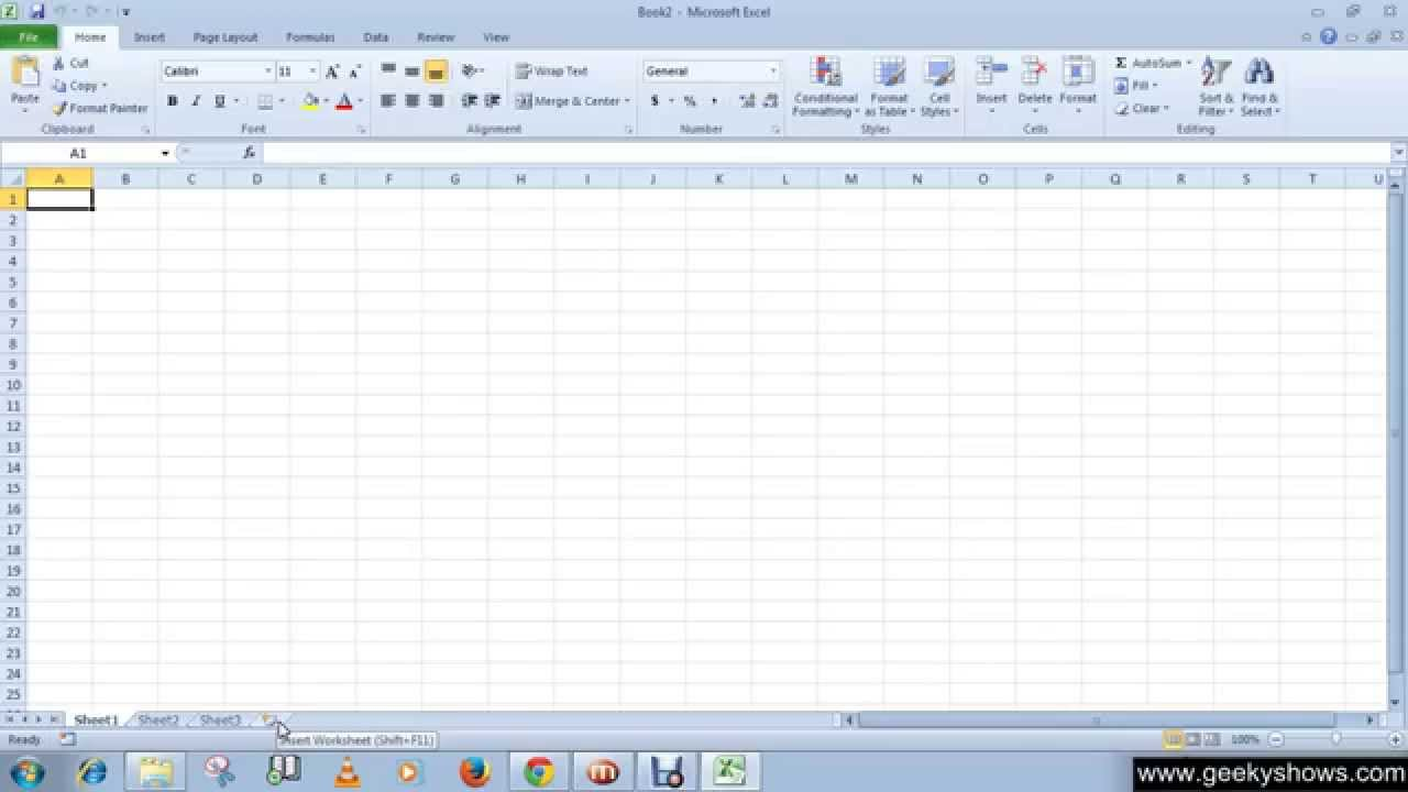 Microsoft Office Excel Insert A New Worksheet