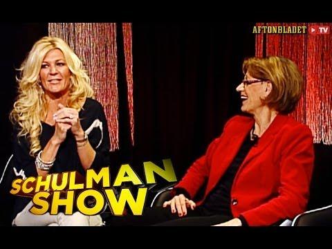 Gudrun Schyman och Maria Montazami i Schulman Show