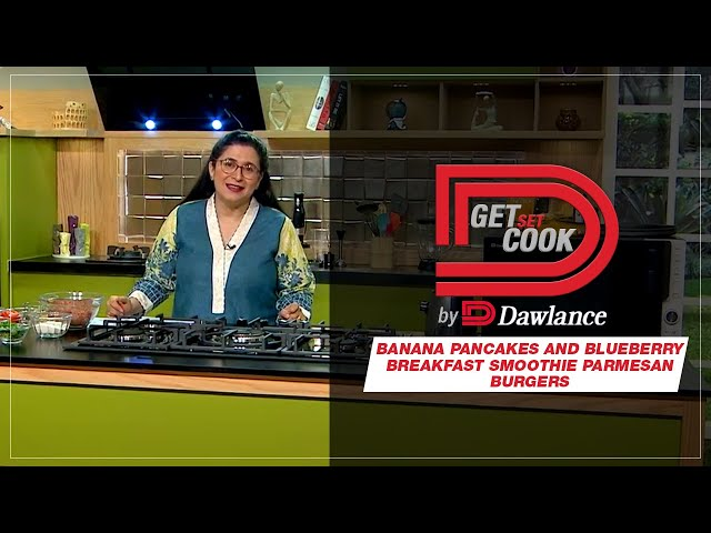 Chef Zarnak | Blender Banana Pancakes and Blueberry Breakfast Smoothie | Get Set Cook Episode 9