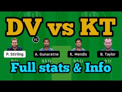 DV vs KT DREAM11 TEAM NEWS AND PLAYING11 2020 || KT vs DV SEAF PLAYING11