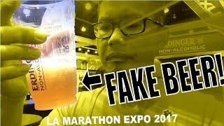 LA MARATHON 2017 EXPO VLOG! (FAKE BEER)