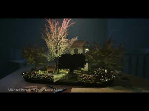Kyoto House Miniature Model