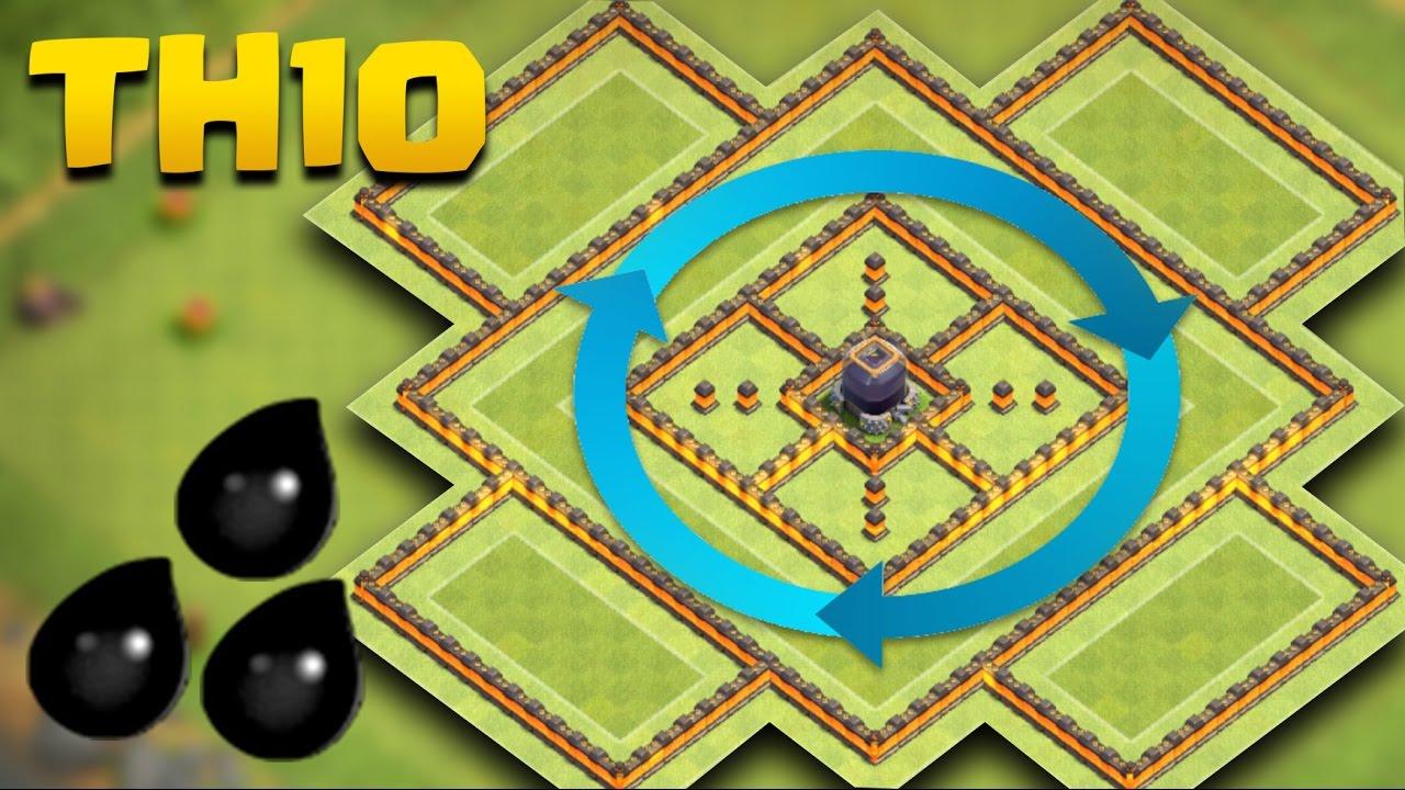 Best Th10 Dark Elixir Farming Base 2