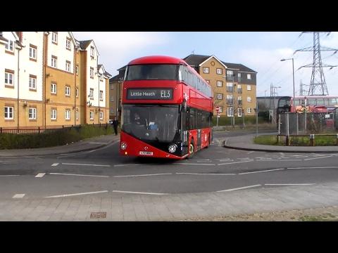 Go-Ahead London buses at Barking Riverside 18/02/2017