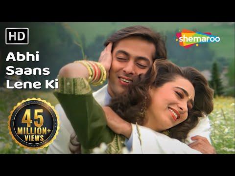 abhi-saans-lene-ki-fursat-nahin-hai-|-jeet-songs-|-salman-khan-|-karisma-kapoor-|-90's-romantic-song