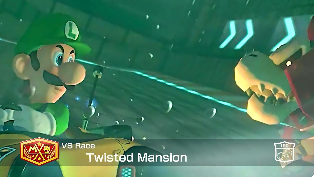 Mario Kart 8 Deluxe Luigi in Twisted Mansion #128