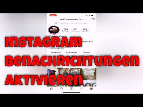 Instagram Benachrichtigungen aktivieren