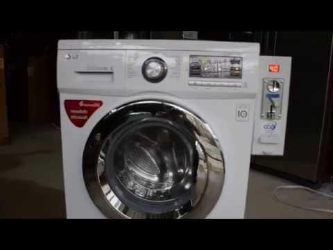 ทดสอบเครื่องซักผ้าฝาหน้าติดกล่องหยอดเหรียญก่อนส่งลูกค้า