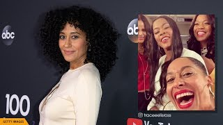 Tracee Ellis Ross Announces 'Girlfriends' Reunion On The Set Of Black-ish
