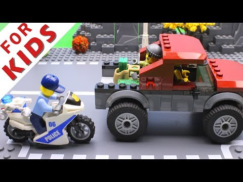 LEGO Police сhase Bank robbery Video for Kids