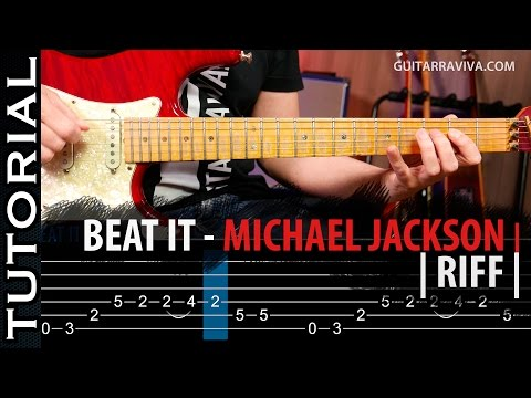 Cómo tocar Beat It de Michael Jackson (RIFF En guitarra )  guitarraviva