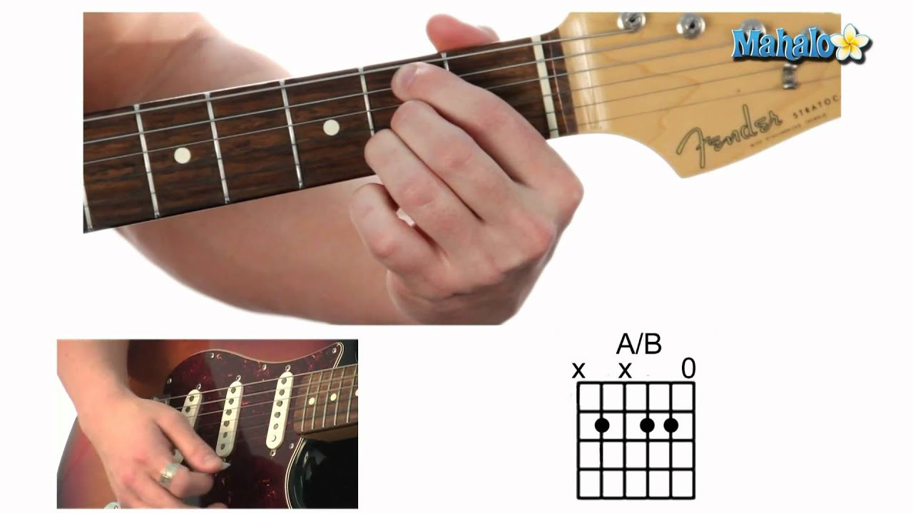 how to play an a over b a b chord on guitar youtube. Black Bedroom Furniture Sets. Home Design Ideas
