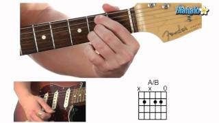 how to play an a over b (a/b) chord on guitar