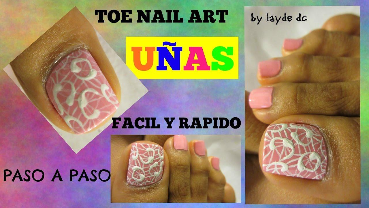 Decoración de uñas de los Pies principiantes facil y rápido /Easy ...