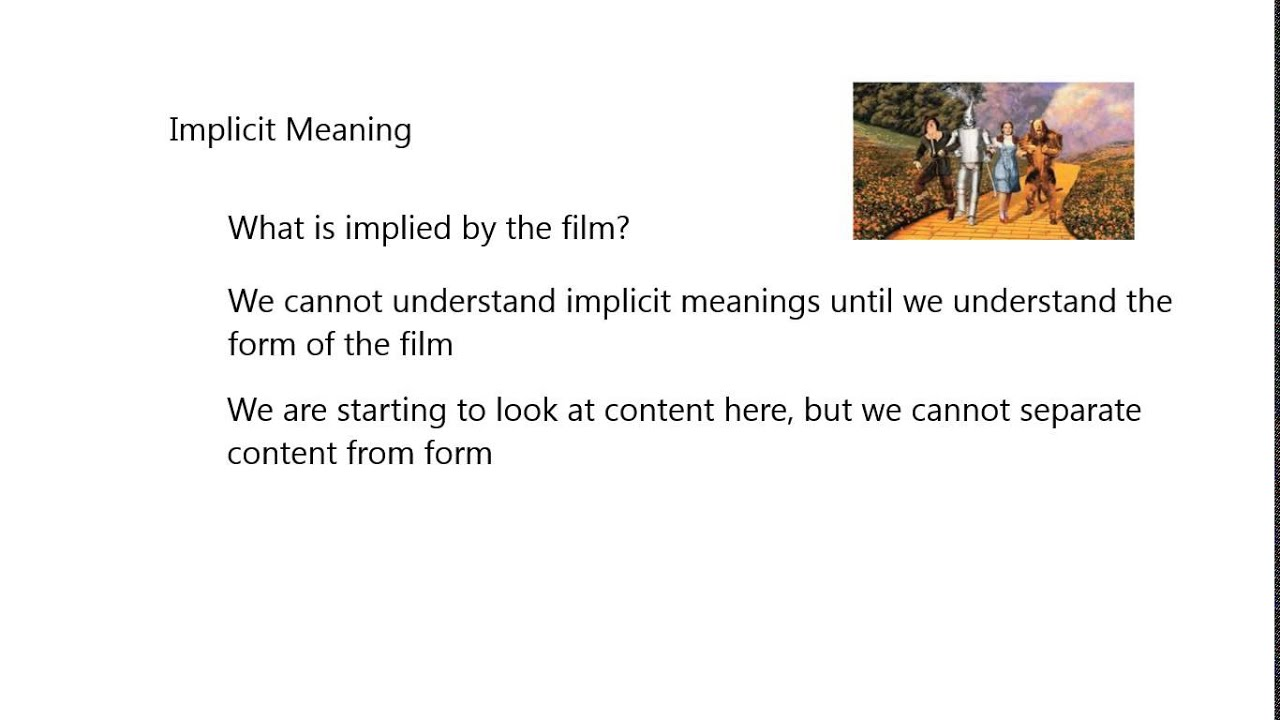 Form and Meaning in Film - YouTube