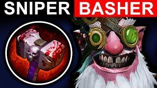 BASHER SNIPER DOTA 2 PATCH 7.06 NEW META PRO GAMEPLAY