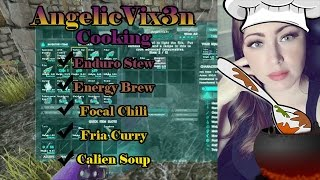AngelicVix3n cooking several Ark Survival Evolved Recipes in Primitive
