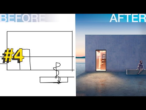 Photoshop Architecture Visualization #4 Minimalism in architecture