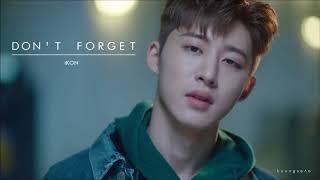 "[3D AUDIO] iKON ""Don't Forget"" (잊지마요)"