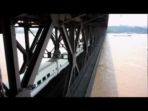 High-Speed Train Crossing Yangtze River.