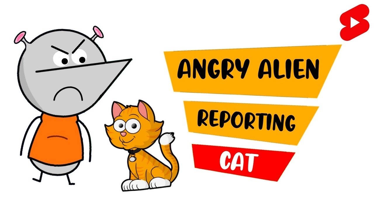 Angry Alien Reporting CAT | #Shorts